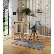 Barhocker Levi Grau - Naturfarben/Grau, MODERN, Holz/Kunststoff (48,5/111,5/55cm) - Ombra