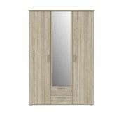 Kleiderschrank Glrs83s-D30 Gloria B: 133 cm - Sonoma Eiche, Basics, Glas/Holzwerkstoff (133.6/195.9/55.3cm) - MID.YOU