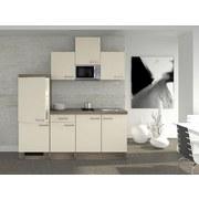 Küchenblock Eico 210 cm Magnolie - Eichefarben/Magnolie, MODERN, Holzwerkstoff (210/60cm) - FlexWell.ai