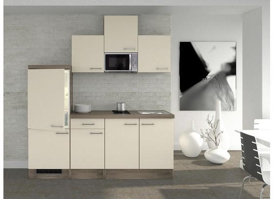 Küchenblock Eico 210 cm Magnolie - Eichefarben/Magnolie, MODERN, Holzwerkstoff (210/60cm)