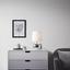 Stolová Lampa Cecilia - barvy stříbra/barvy chromu, Moderní, kov/textil (23/39cm) - Mömax modern living