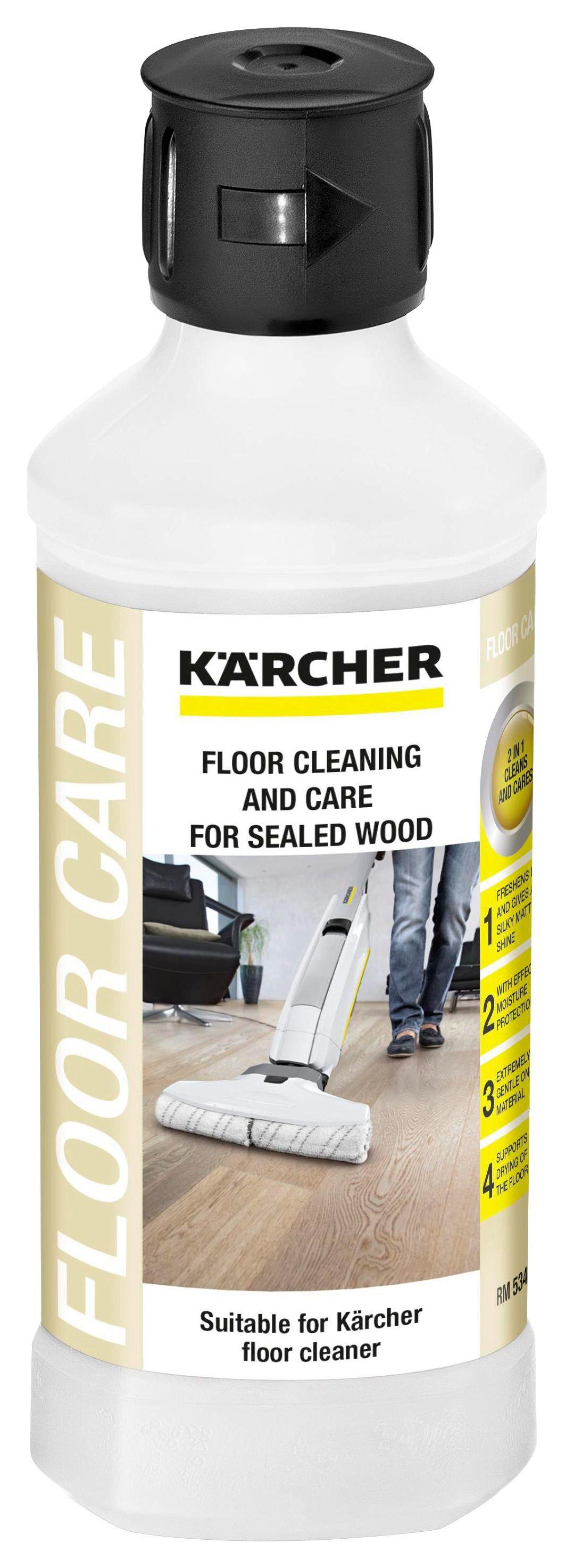 Bodenreinigungmittel für Versiegelte Holzböden - Schwarz/Weiß, MODERN (6,5/21cm) - Kärcher