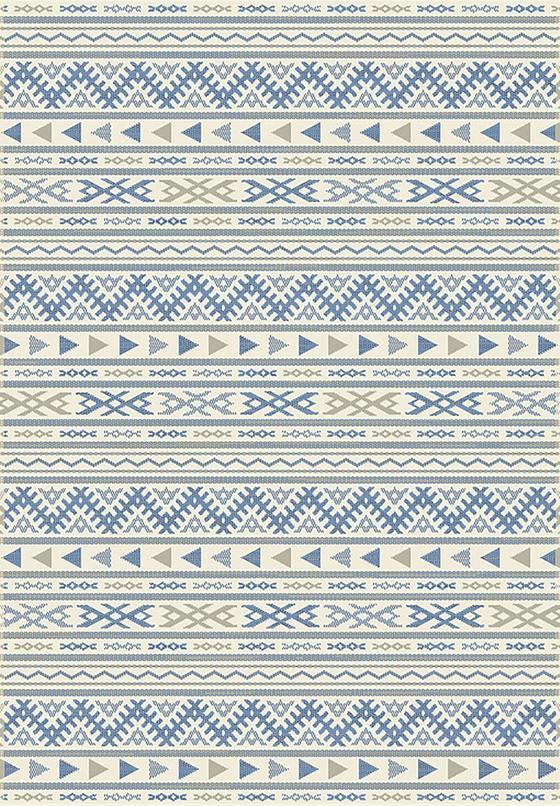 Hladce Tkaný Koberec Kelim 3 - modrá/přírodní barvy, Moderní, textil (160/230cm) - Mömax modern living