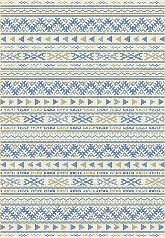 Hladce Tkaný Koberec Kelim 3 - modrá/přírodní barvy, Moderní, textilie (160/230cm) - Mömax modern living