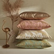 Polštář Ozdobný Laguna - bílá/barvy zlata, textilie (40/50cm) - Mömax modern living