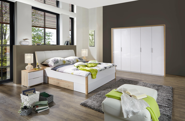 Skříň Šatní Florenz - bílá/barvy dubu, Konvenční, dřevěný materiál (231/214/61cm)