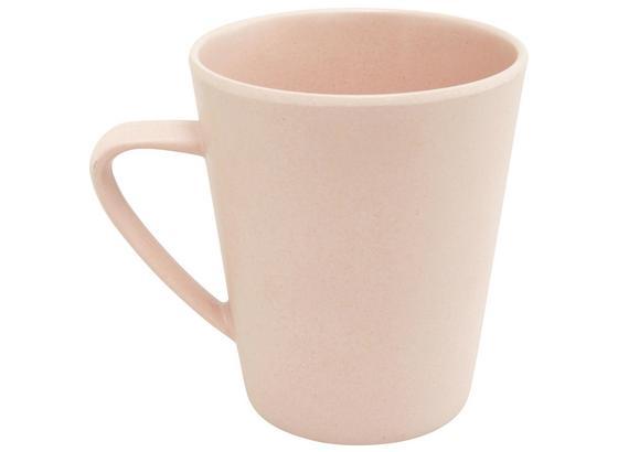 Hrnek Na Kávu Anabel - růžová, Natur, přírodní materiály/umělá hmota (8,5/9,5cm) - Zandiara