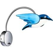 LED-wandleuchte Vogel Blau - Blau, MODERN, Kunststoff/Metall (32/26cm)