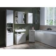 Oberschrank Lido - Weiß/Grau, KONVENTIONELL, Holzwerkstoff (36/73/25cm) - Livetastic