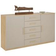Komoda Kufstein - barvy dubu/přírodní barvy, Konvenční, dřevěný materiál (149/86/37cm) - MODERN LIVING