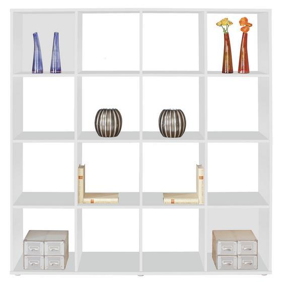 Polc Berni - fehér, modern, faanyagok (158/158/34cm)