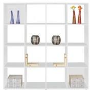 Raumteiler Berni - Alufarben/Weiß, MODERN, Holzwerkstoff (158/158/34cm)