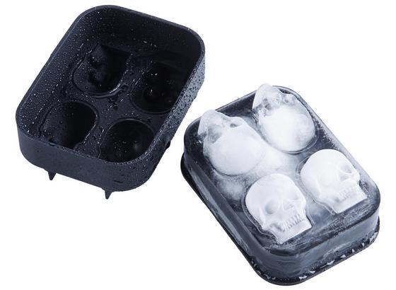 Forma Na Ledové Kostky Chris - černá, Moderní, umělá hmota (12/8,5/4cm) - Mömax modern living