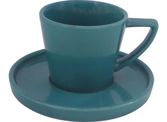 Šálek Na Espresso S Podšálkem Merit - petrolej, Moderní, keramika (0,120l) - Premium Living