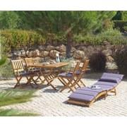 Gartenset Nancy Plus - Flieder/Akaziefarben, MODERN, Holz/Textil - LUCA BESSONI