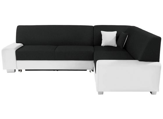 Sedací Souprava Miami - bílá/černá, Basics, dřevo/textil (260/210cm)
