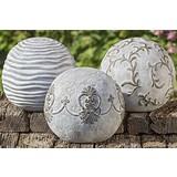 Dekokugel Rosina Sort - Hellgrau, LIFESTYLE, Keramik (20cm)