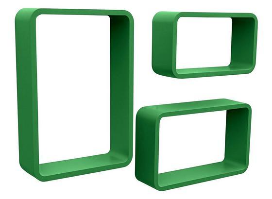 Nástenný Regál Sven - zelená, Moderný, kompozitné drevo (45/40/35/30/25/20/11cm)