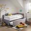 Výsuvná Postel Elm - světle šedá, Konvenční, kov/kompozitní dřevo (90/200cm) - Premium Living