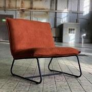 Sessel Paris Bench B: 83 cm Braun - Schwarz/Braun, MODERN, Textil (83/83/75cm) - MID.YOU