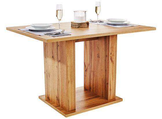 Jedálenský Stôl Patrik 120 - farby dubu, Moderný, kompozitné drevo (120/74/80cm)