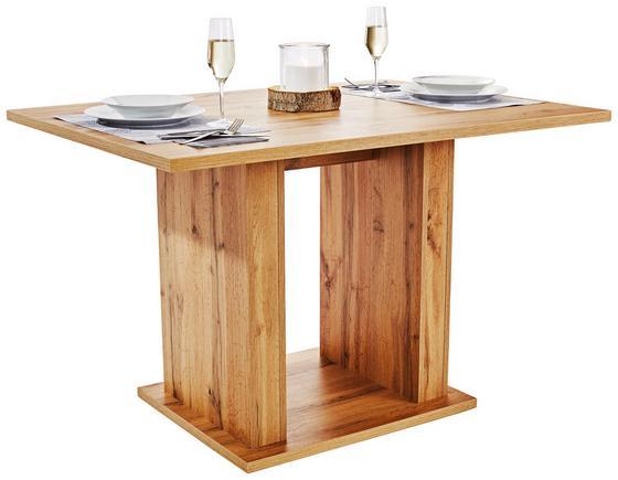 Jídelní Stůl Patrik 120 - barvy dubu, Moderní, dřevěný materiál (120/74/80cm)