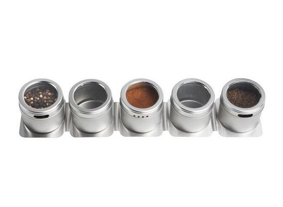 Sada Dóz Na Korenie 'betty' - 6-dielny Set - farby ušľachtilej ocele, kov/plast - Mömax modern living