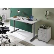 Schreibtisch Höhenverstellbar B 160cm H 80cm Pronto Hellgrau - Silberfarben/Hellgrau, Basics, Holzwerkstoff/Metall (80/160/71(119)cm) - MID.YOU