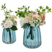Vase Alf - Blau, Basics, Glas (19,5/25,5cm) - Luca Bessoni