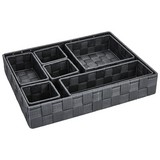 Aufbewahrungsset Alberina 7-Teilig - Dunkelgrau, KONVENTIONELL, Kunststoff/Metall - Ombra
