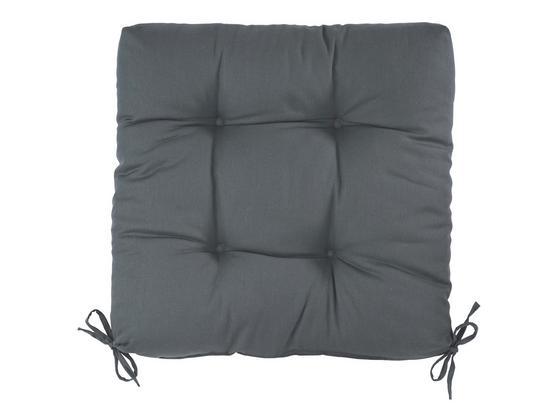 Sedák Elli - antracitová, textil (40/40/7cm) - Based