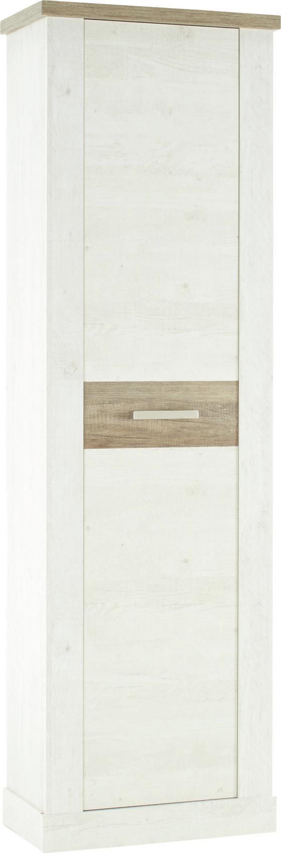 Šatná Skriňa Duro - farby dubu/farby pínie, umelá hmota/kov (61,4/199,2/34,1cm)