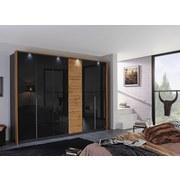 Drehtürenschrank Bellezza B: 275 cm - Eichefarben/Grau, KONVENTIONELL, Glas/Holzwerkstoff (275/212/58cm) - Carryhome