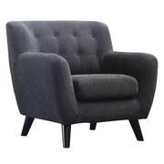 Křeslo Monaco - černá/tmavě šedá, Moderní, dřevo/textil (87/82/85cm) - Luca Bessoni