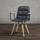Židle S Podroučkami Jan - šedá/barvy buku, Moderní, dřevo/textil (65/59/86cm) - Modern Living