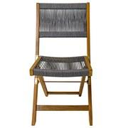 Gartenklappsessel-Set B: 43 cm Braun/Grau - Braun/Grau, Basics, Holz/Textil (43/90/52cm) - Ambia Garden