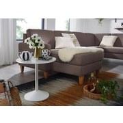 Beistelltisch Rund mit Tulpernfuß Weiß - Weiß, Design, Holzwerkstoff/Metall (48/49/48cm) - Livetastic