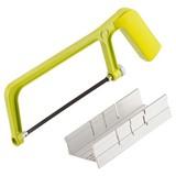 Handsäge mit Aluschneidelade - Gelb, MODERN, Kunststoff/Metall (25,2/3,2/8,5cm) - Suki