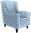 Ohrensessel Asti B: 82cm Blau - Wengefarben/Blau, MODERN, Holz/Textil (82/100/84cm) - Ombra