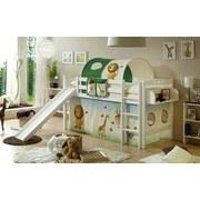 Spielbett Theo R 90x200 cm Safari - Multicolor/Weiß, Natur, Holz (90/200cm) - MID.YOU