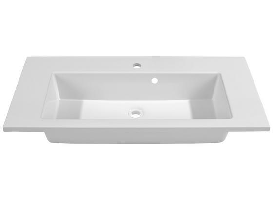 Umývadlo Denia - biela, Moderný (90/16/46cm)