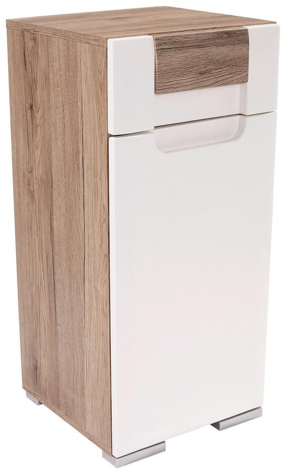 Unterschrank Toronto - Eichefarben/Alufarben, MODERN, Holzwerkstoff (40/81/34cm) - Ombra