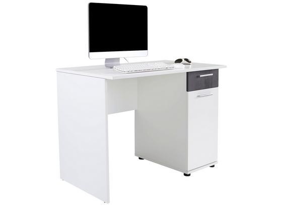 Písací Stôl Star - biela/tmavosivá, Konvenčný, kompozitné drevo (109/77,7/60cm)