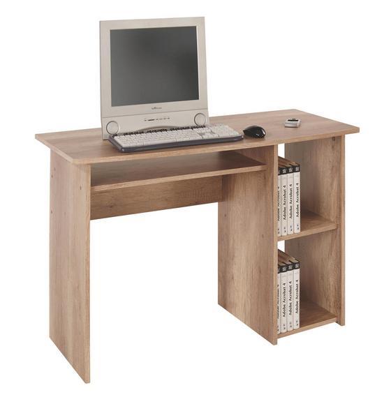 Písací Stôl Remus - farby dubu, Moderný, drevený materiál (110/74/50cm)