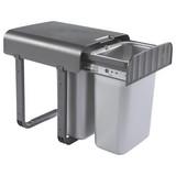 Abfallsammler Aladin - Dunkelgrau/Silberfarben, Basics, Kunststoff (29/36/33cm) - HKT