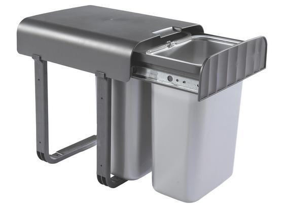 Koš Odpadkový Aladin 377720 - barvy stříbra/tmavě šedá, Basics, umělá hmota (29/36/33cm)