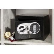 Tresor Mini 17x17x23 cm - Silberfarben/Schwarz, Metall (17/17/23cm) - Homezone