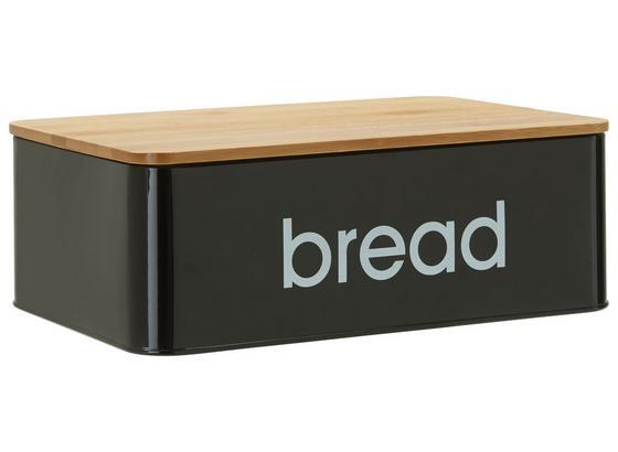 Box Na Chleba Norman - černá, Lifestyle, kov/dřevo (33/21/10,5cm) - Mömax modern living