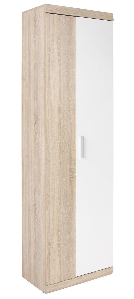 Előszoba Szekrény Imperial - tölgy színű/fehér, modern, faanyagok (60/196/36cm)
