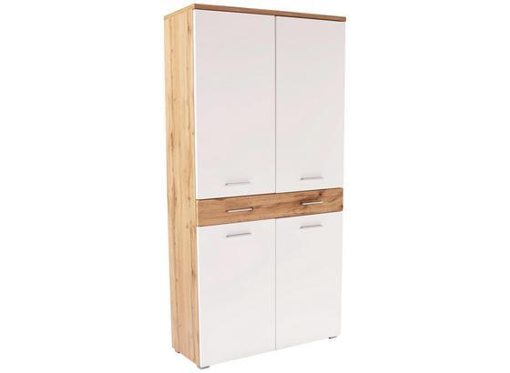 Šatná Skriňa Space New - farby dubu/biela, Moderný, kompozitné drevo (100/199/35cm)
